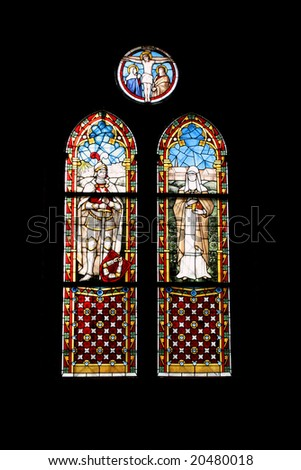 stained glass church window in Rerik, Germany