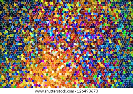 Stained Glass Colorful Abstract Pattern Background - stock photo