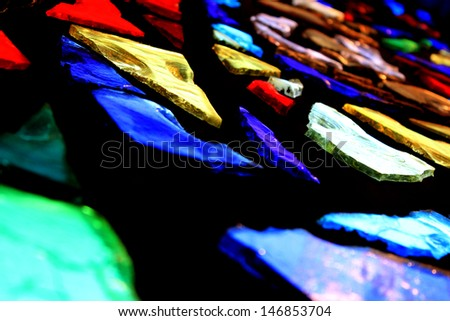 Stained Glass Detail - stock photo