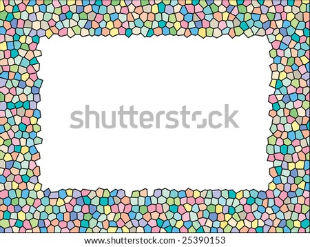 Stained glass frame - stock photo