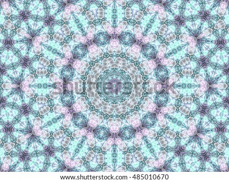 Stained glass seamless fractal mandala, digital artwork for creative graphic design