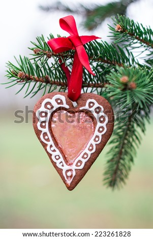 Stained glass window gingerbread Christmas cookies  - stock photo