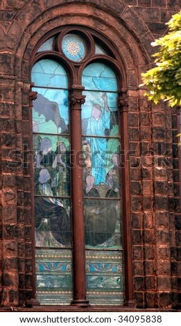Stained Glass Window Of Church.-World wide photo walk July 09-Buffalo,New York