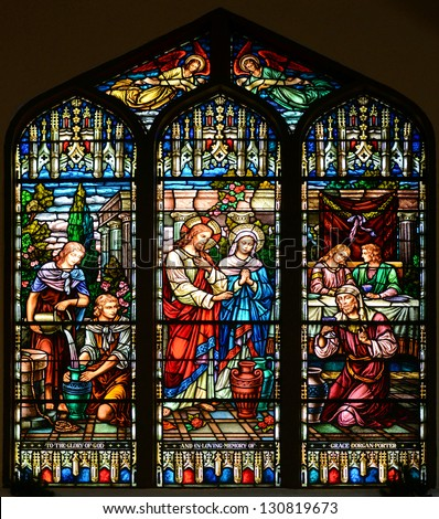 Stained Glass Window Of St Pauls Episcopal Church Key West Florida