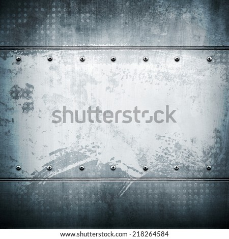 stained metal plate  - stock photo
