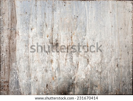 Stained metal texture - stock photo