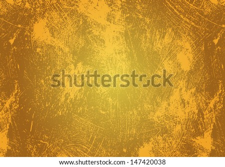 stained shabby yellow grunge background