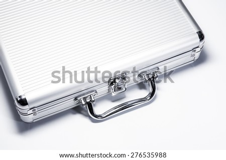 stainless box on white background. - stock photo