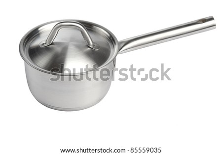stainless pan  scoop isolated on white