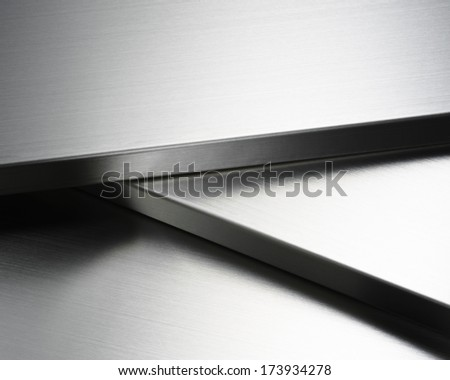 stainless steel abstract - stock photo
