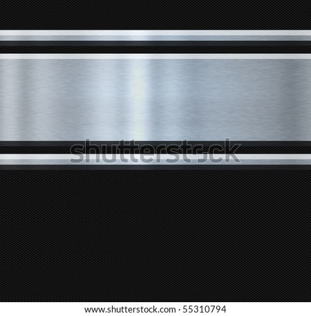 stainless steel and carbon fibre abstract image - stock photo