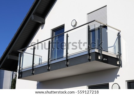 Balcony stock images royalty free images vectors for Stainless steel balcony