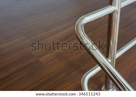 stainless steel banister in residential house