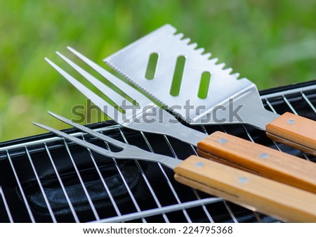 Stainless Steel BBQ - stock photo