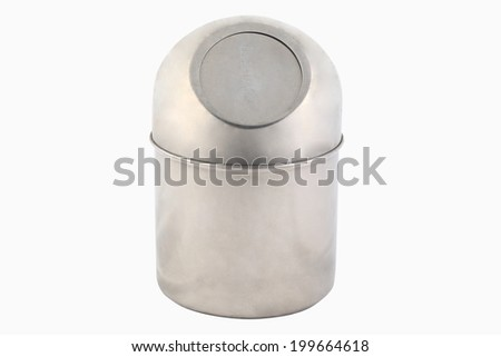 stainless steel box of Tissues Isolated On White Background. - stock photo