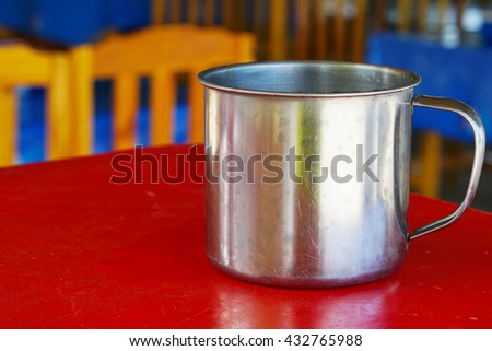 Stainless steel cup  - stock photo