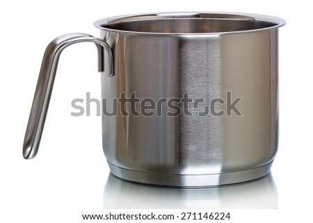 Stainless Steel dipper  isolated on a white background - stock photo