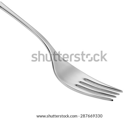 stainless steel fork isolated