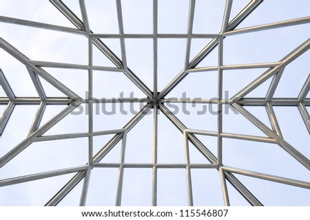 stainless steel frame of skylight roof