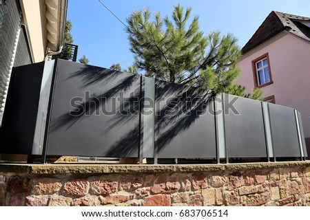 Stainless Steel Garden Fence With Sight Protection