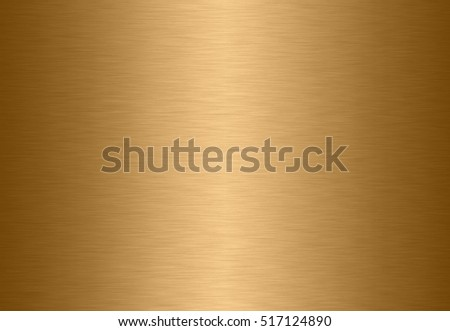 Stainless steel gold polished metal surface background or aluminum brushed silver texture with reflection.