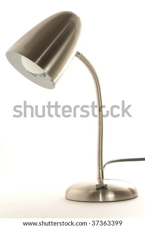 Stainless steel lamp isolated on white - stock photo