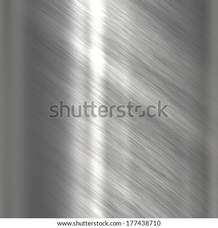 Stainless steel metal background or texture - stock photo