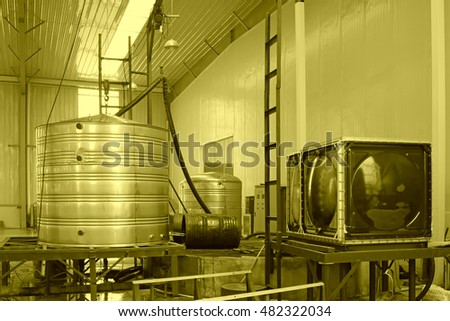 Stainless steel products shell, closeup of photo