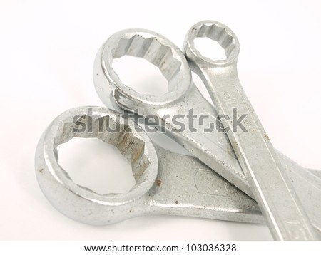 Stainless Steel Wrench close up