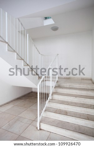 stair in modern building - stock photo