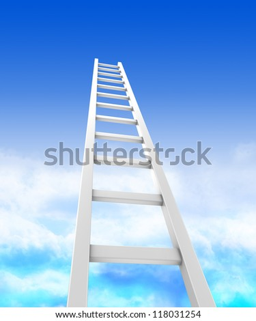 Stair ladders over sky, concept success - stock photo