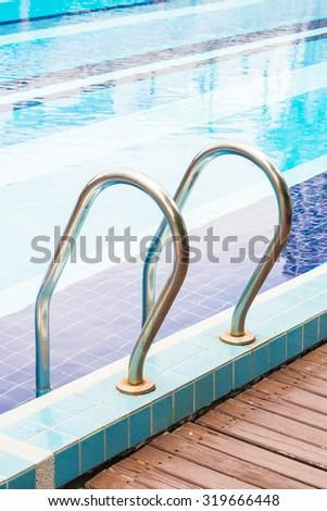 Stair pool - stock photo