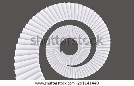 Stair Spiral - stock photo