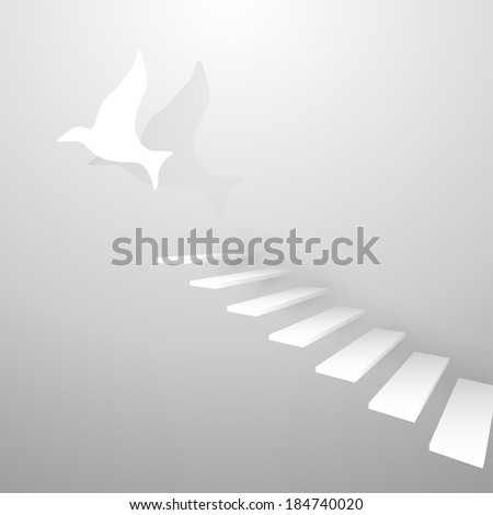 staircase business concept - stock photo