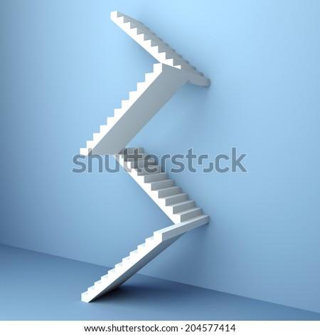 Staircase. 3d render illustration - stock photo