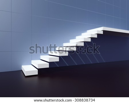 Staircase. 3d render illustration - stock photo