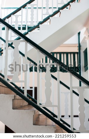 Staircase in an European Style Apartment