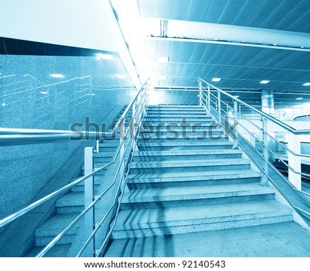 staircase in business office center