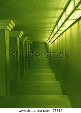 Staircase in underground - stock photo