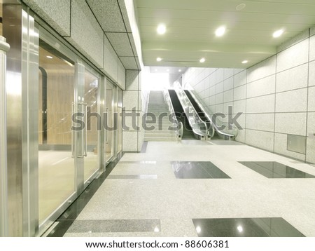 Staircase in underground passage