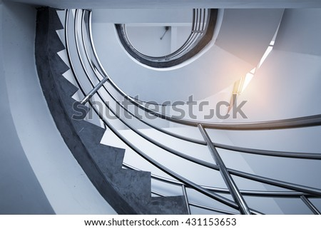 staircase of a bell tower that looks like an eye