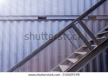 staircase of container house