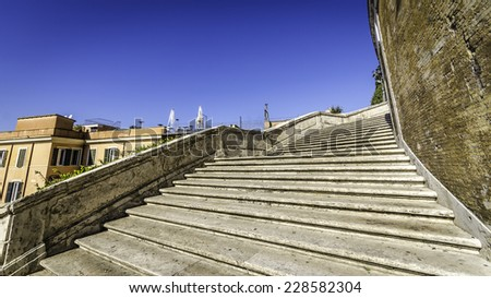 Staircase of the Spanish Steps, Rome  - stock photo