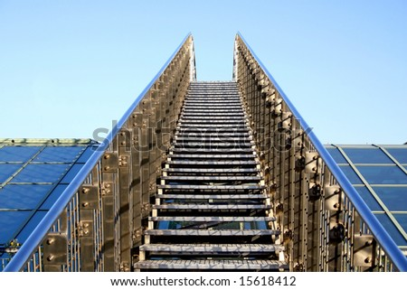 Staircase on a roof. - stock photo