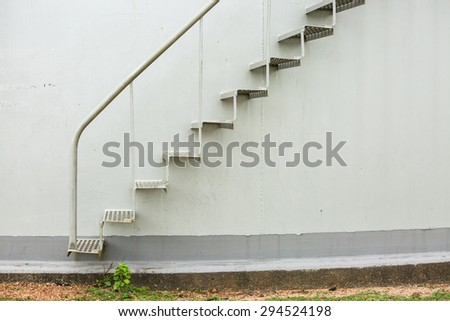 Staircase on big fuel tank