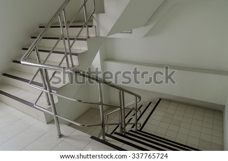 staircase railings - stock photo