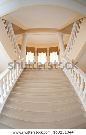 staircase to the beautiful hall - stock photo