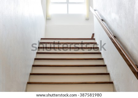 staircase to the house building. - stock photo