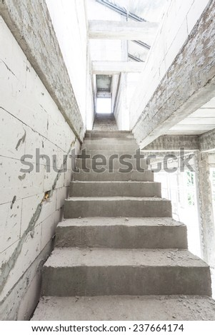 Staircase under construction - stock photo