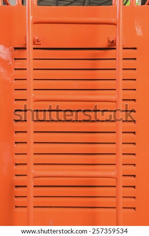 Staircase up car - stock photo